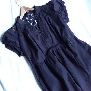 Torrid Retro Black Midi Dress Lace